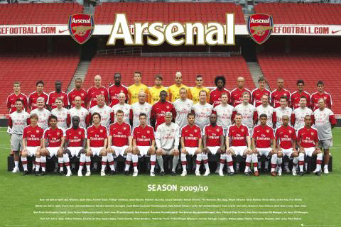 Arsenal FC Official Team Portrait 2009/10 - GB Eye