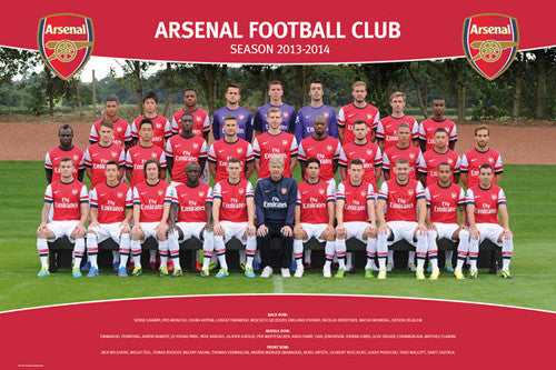 Arsenal FC 2013/14 Official Team Portrait Poster - GB Eye (UK)
