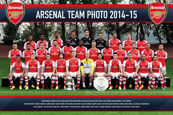 Arsenal FC Official Team Portrait 2014/15 Soccer Poster - GB Eye (UK)