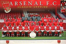 Arsenal F.C. Team Poster 1999/2000 - U.K. 1999