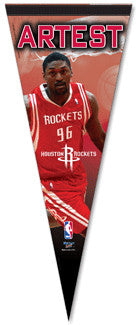 "Ron Artest ""Superstar"" Houston Rockets Premium Pennant L.E. /2,008"