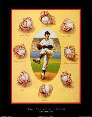 "Baseball ""The Art of the Pitch"" Premium Poster Print - Image Source"