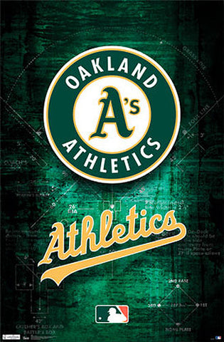 Oakland A's Official MLB Baseball Team Logo Poster - Costacos Sports