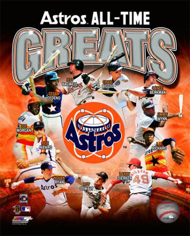 Houston Astros All-Time Greats (11 Legends) Premium MLB Poster Print - Photofile Inc.