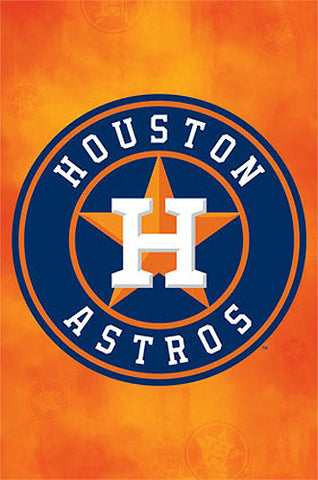 Houston Astros Official MLB Baseball Team Logo Poster - Trends International