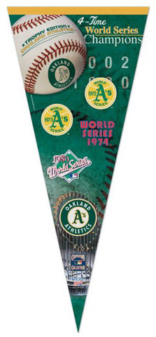 Oakland A's 4-Time World Champs EXTRA-LARGE Premium Pennant