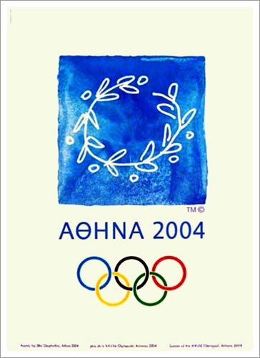 Athens Greece 2004 Summer Olympic Games Official Poster Reprint - Olympic Museum