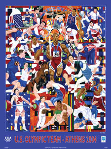 "U.S. Olympic Team 2004 ""AllSports"" - Fine Art Ltd."