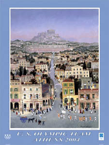 "U.S. Olympic Team ""Athens Torch Run"" - Fine Art Ltd."
