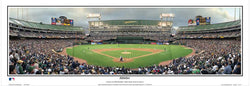Oakland Athletics O.Co Coliseum Game Night Panoramic Poster Print - Everlasting 2009