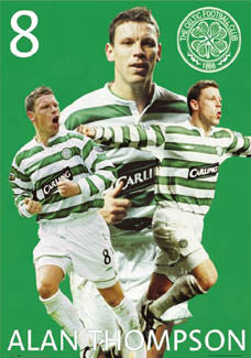 "Alan Thompson ""Superstar"" Glasgow Celtic FC Poster - GB 2004"