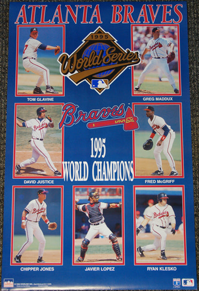 Atlanta Braves 1995 World Series Champions Official MLB Commemorative Poster - Starline Inc.