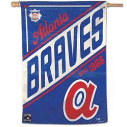 "Atlanta Braves ""Since 1966"" Cooperstown Collection Premium 28x40 Wall Banner - Wincraft Inc."