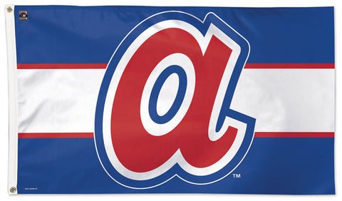 "Atlanta Braves ""Lower-Case A"" Style (1972-80) Cooperstown Collection MLB Baseball Deluxe-Edition 3'x5' Flag - Wincraft"