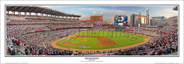 Atlanta Braves SunTrust Park Opening Series (2017) Panoramic Poster Print - Everlasting Images
