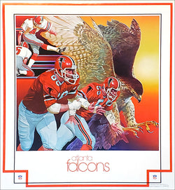 Atlanta Falcons 1979 Theme Art Poster by Chuck Ren - DAMAC Inc.