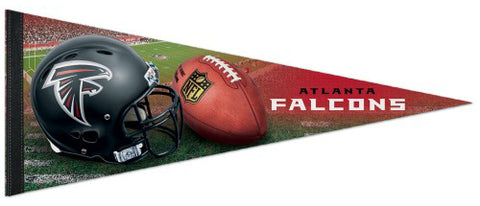 Atlanta Falcons Official NFL Helmet-Style Premium Felt Collector's Pennant - Wincraft