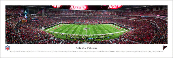 Atlanta Falcons First Regular-Season Game at Mercedes-Benz Stadium (2017) Panoramic Poster Print - Blakeway