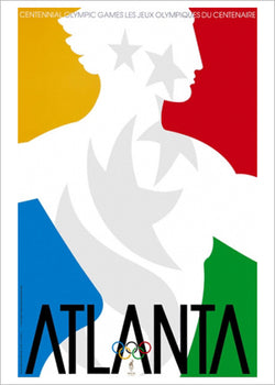 Atlanta 1996 Summer Olympic Games Official Poster Reprint - Olympic Museum