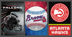 COMBO: Atlanta, Georgia Sports 3-Poster Combo (Hawks, Falcons, Braves)