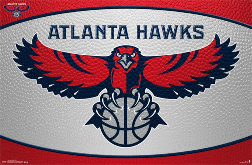 Atlanta Hawks NBA Basketball Official Team Logo Poster - Costacos 2014
