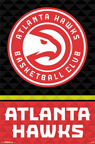 Atlanta Hawks Basketball Official NBA Team Logo Poster - Trends International 2015