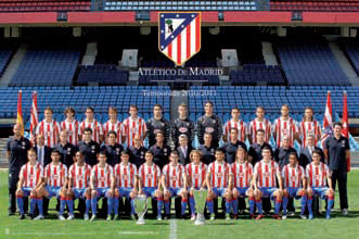 Atletico Madrid Official Team Portrait 2010/11 Poster - G.E. (Spain)
