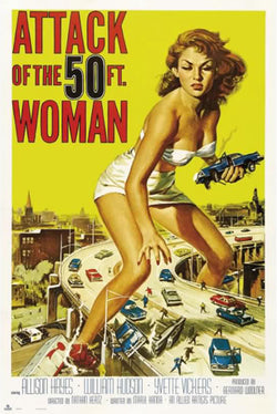 Attack of the 50-Foot Woman (1958) One-Sheet Movie Poster 24x36 Reproduction - Grupo Erik
