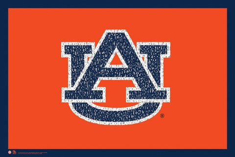 "Auburn Tigers ""War Eagle!"" Fight Song Logo Poster - LA Pop Inc."