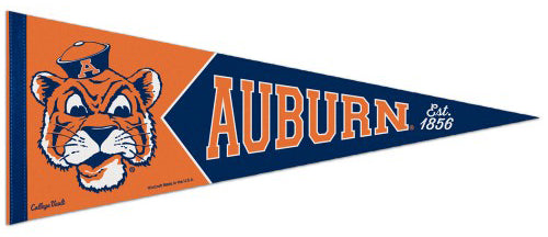 Auburn Tigers NCAA College Vault 1960s-Style Premium Felt Collector's Pennant - Wincraft Inc.