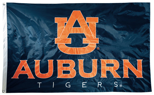 Aubun Tigers Official NCAA Premium Nylon Applique 3'x5' Flag - BSI Products Inc.