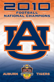 Auburn Tigers 2010 Football National Champions Commemorative - Costacos Sports