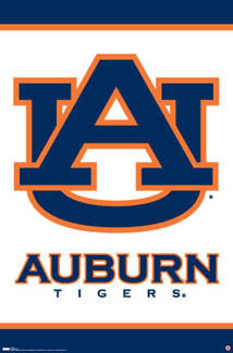 Auburn Tigers Official NCAA Team Logo Poster - Costacos Sports