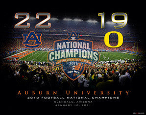 "Auburn Tigers National Champs ""Scoreboard"" Print - ProGraphs 2011"