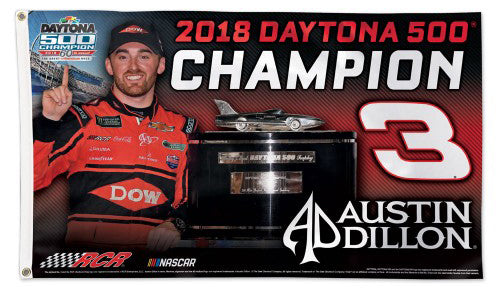Austin Dillon 2018 Daytona 500 Champion Official NASCAR Deluxe-Edition 3'x5' Flag - Wincraft