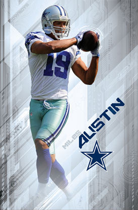 "Miles Austin ""Gamebreaker"" Dallas Cowboys Action Poster - Costacos 2012"