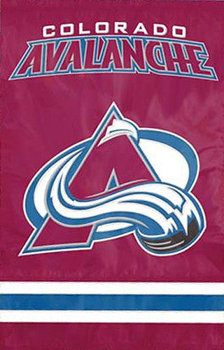 Colorado Avalanche Official NHL Hockey Premium Applique Team Banner Flag - Party Animal