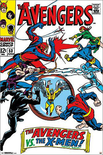 "The Avengers #53 (June 1968) ""Avengers vs. X-Men"" 24x36 Cover Poster - Trends International"