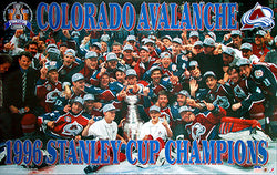 Colorado Avalanche 1996 Stanley Cup On-Ice Celebration Poster - Starline Inc.
