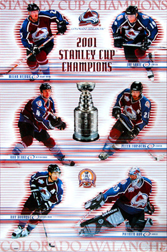 Colorado Avalanche 2001 Stanley Cup Champions Commemorative Poster - Costacos