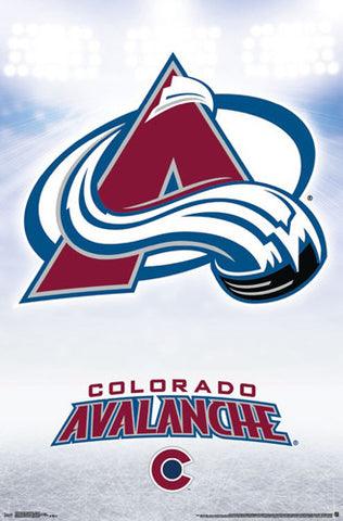 Colorado Avalanche Official NHL Hockey Team Logo Poster - Trends International