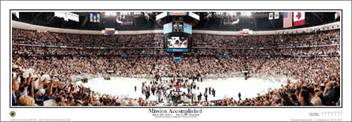 "Colorado Avalanche ""Mission Accomplished"" 2001 Stanley Cup Champs Panoramic Poster - E.I."