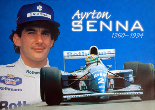 Ayrton Senna Forever (1960-94) Formula One Auto Racing Commemorative Poster - Pyramid Posters