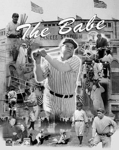 "Babe Ruth ""The Babe Forever"" Historical Collage Premium Poster Print - Photofile Inc."