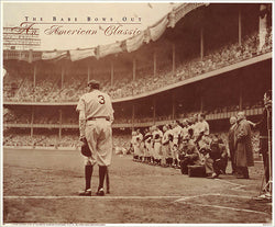 "Babe Ruth ""The Babe Bows Out"" (1948) Sepia Print - NYGS"