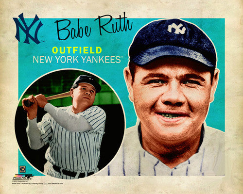 "Babe Ruth ""Retro SuperCard"" New York Yankeees Premium Poster Print - Photofile 16x20"