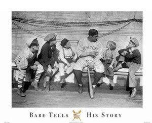 "Babe Ruth ""Babe Tells His Story"" (1924) Poster Print - Image Source"