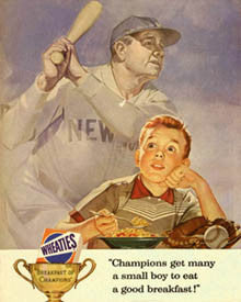 "Babe Ruth ""Breakfast of Champions"" - Eurographics"