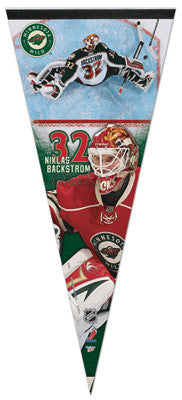"Niklas Backstrom Minnesota Wild ""Big-Time"" Premium Felt Collector's Pennant"