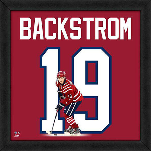 "Nicklas Backstrom ""Number 19"" Washington Capitals FRAMED 20x20 UNIFRAME PRINT - Photofile"